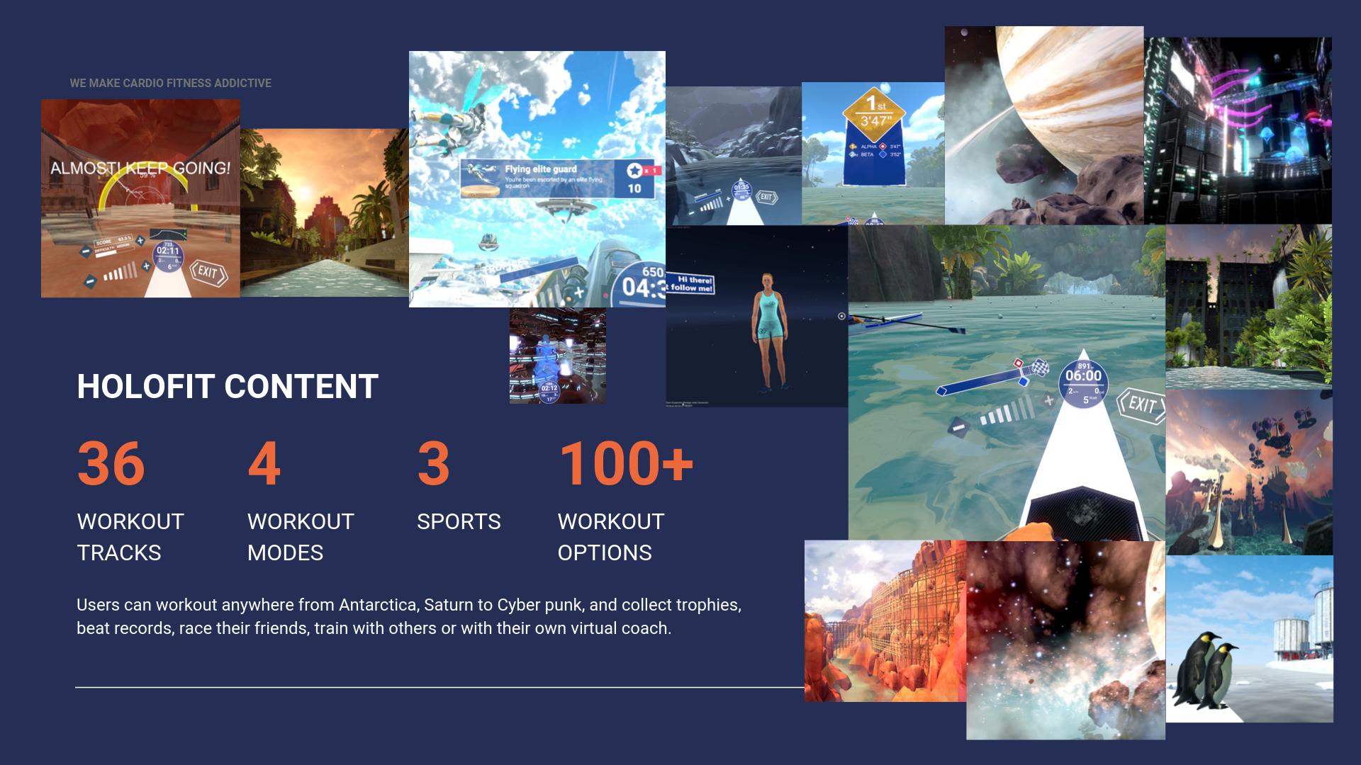 HOLOFIT VR Fitness original content